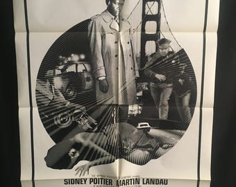 Original 1970 They Call Me Mister Tibbs One Sheet Movie Poster, Sidney Poitier, Martin Landau, Blaxploitation