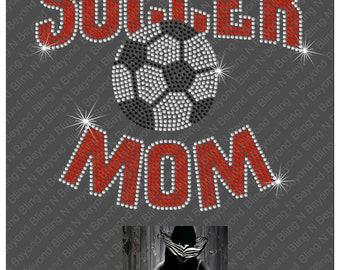 Soccer Mom Rhinestone Bling Shirt