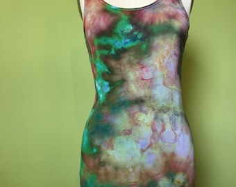 Fitted Ice Dyed Tank. Size Large