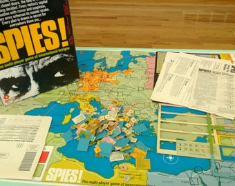 Vintage Spies! Board Game SPI Free Shipping