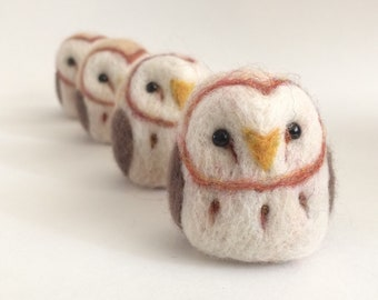 Miniature Barn Owl needle felted