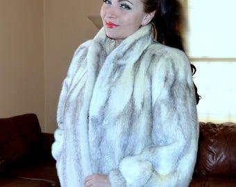 Pristine VTG Luxurious Genuine Cross Mink Fur Jacket / Mink Fur Jacket / Ultimate Luxury High Quality Cross Mink Jacket Medium Large 10 12
