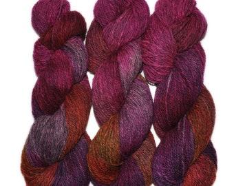 Hand dyed yarn - Alpaca / American wool yarn, Worsted weight, 240 yards - Guachimines