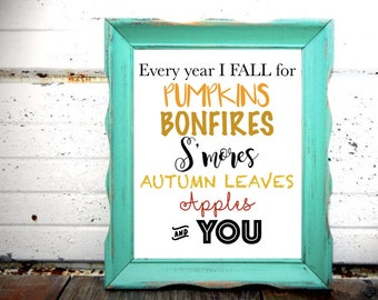 Instant High Quality 8x10 FALL printable - Fall decor - Home Decor- Autumn Printable - Autumn Decor - Cheap - SALE!