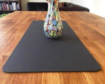 Rectangular Table Runner in Graphite Grey Matt Finish 3mm Acrylic - 2 Sizes Available