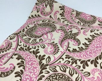 1 Yard (36 inches) of Pink & Brown Paisley The Evelyn Collection by Anna Griffin for Windham Fabrics
