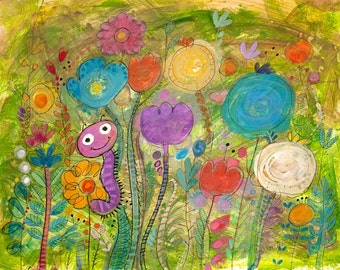 In The Garden - Digital Print
