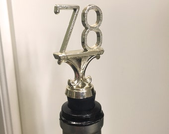 1978 Trophy Wine Bottle Stopper - Upcycled & Repurposed Trophy