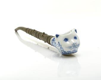 Cat Pipe, pipe, vintage ethnic pipe, smoking, smoking pipe, tobacco pipe, handpipe,