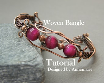 Wire wrap tutorial ~ Handmade jewelry ~ Instructions ~ Pdf ~ Wire wrapped bracelet ~ Jewelry kit ~ Bracelet tutorial ~ Wire jewelry pattern
