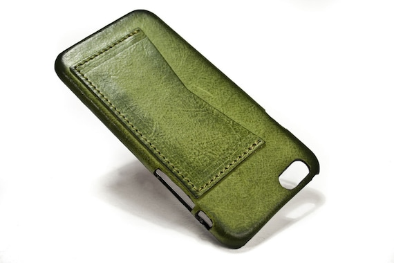 """NEW iPhone 7 display 4.7"""" Leather Case with 1 credit card holder horizontal Slot choose the color of BODY and ACCENT"""