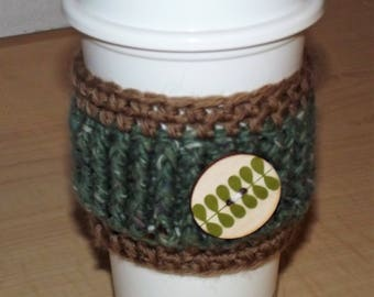 Leaves and Owls Coffee Cup Cozy