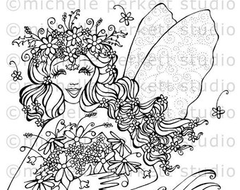DIGITAL STAMP -  The Meadow Fairy