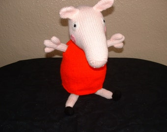 hand knitted PEPPA PIG