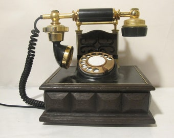 Vintage Rotary Retro French Victorian Style Telephone western Electric , 1980s.