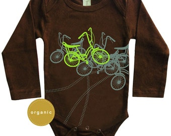Baby boy clothing, Baby Clothing, New Baby, Gifts for baby boy, Hipster Baby Clothes, Bicycles, Long sleeves, Stranger Things, Baby Onesie
