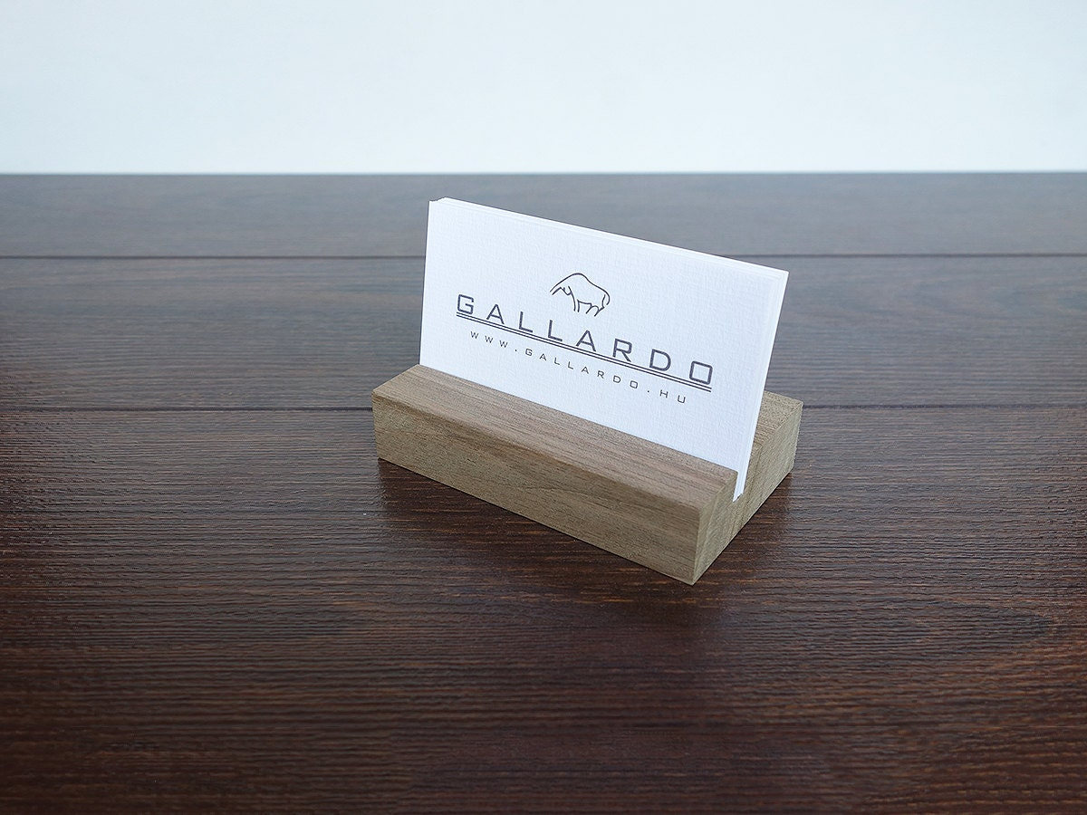Wood Business Card Holder. Wood Business Card Stand.Wooden