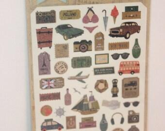 paper sticker travelstory
