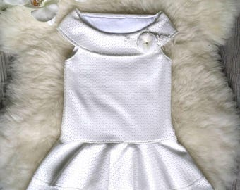 White dress, Flowergirl dress, Special occasion girl dresses, Handmade dresses, Clothing dress girl, Lining cotton, Neoprene dress