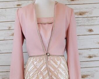 Vintage Nolan Miller Pink Suit