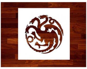 Game of Thrones House Targaryen Stencil