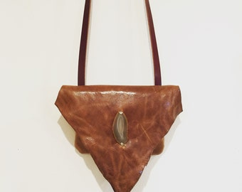 Leather Crossbody Bag, Tan Leather Crossbody, Tan Leather Handbag