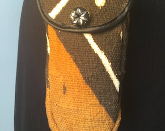 Mud cloth or kente cloth purse - pouch size