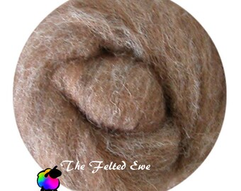 Needle Felting Wool Roving / NR10 A Little Squirrely Carded Wool Roving