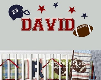 Football Wall Decal - Football Decal - Sports Decal - Kids Decal Sticker- Football - Boys Decals, Football Stickers