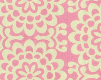 Amy Butler Lotus Pink Wallflower fabric - 1 Yard 12 inches - last piece