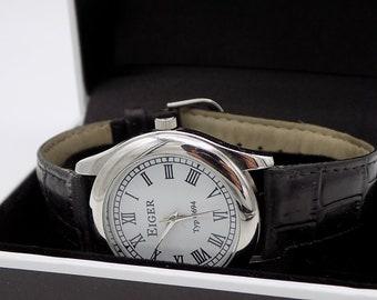 EIGER type G694/watch round/watch Vintage Watch has Quartz unisex / Art Deco / watch years 70/figure Roman/idea Gift/Collection. & Eiger watch | Etsy