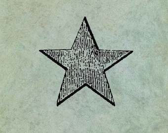 Star LARGE - Antique Style Clear Stamp