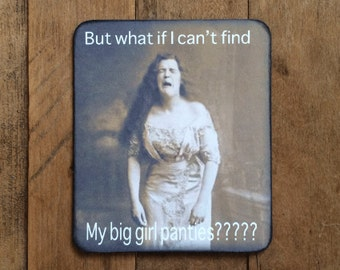 Humorous Vintage Photo Magnet