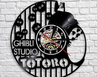 My Neighbor Totoro Anime Gift Vinyl Record Wall Clock