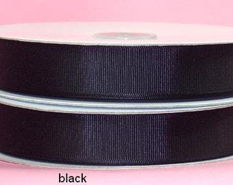 7/8 inch x 25 yds grosgrain ribbon - BLACK