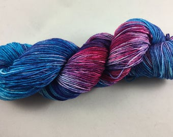 hand dyed sock yarn, colorway TWO SCOOPS, superwash merino wool and nylon, fingering weight yarn