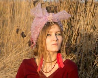 Wreath Turban, Fancy Wreath Headband,  Festival Headdress, Tribal Headdress, Gypsy Turban, Gypsy headband, Boho Headpiece, Headband