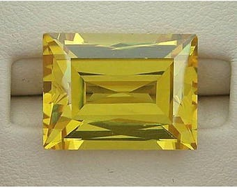 Cubic Zirconia Baguette AAA Yellow CZ Wholesale Loose Stones (3x2mm - 14x10mm)