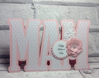 Mothers Day card, handmade birthday card for mum, mother birthday card, card for mom, card for mam