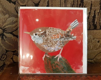 Wren greetings card, blank for your own message