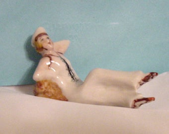 Porcelain Sailor Girl Figurine