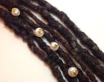 Fresh Water Pearls Set Hair Pin Bead Jewelry Locs, Dreadlocks, Braids and Twists