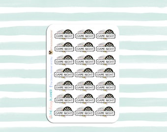 Game Night Stickers for various planners, journals, calendars, scrapbooking