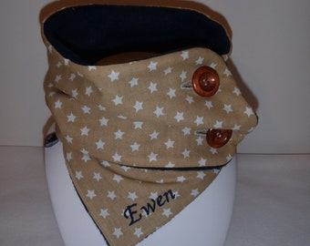 Collar / neck warmer, winter - stars - customizable