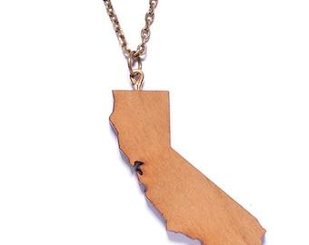 Men's Necklace - Men's Jewelry - California necklace - California State necklace - California Souvenir - Necklace for men and women