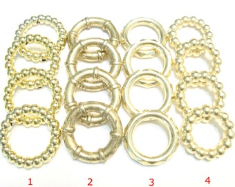 Scarf Jewelry Fancy Scarf Rings Gold Tone  4 Style 8-40PCS  US SELLER