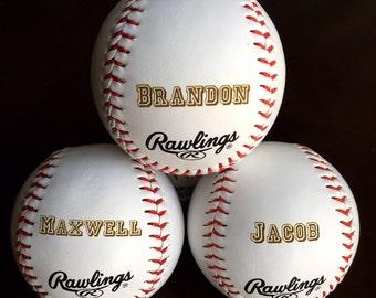 Personalized Custom Engraved Baseball Groomsman, Best Man, Ring Bearer, Usher, Wedding, Baby, Birth Announcement, Keepsake, Sports Gift