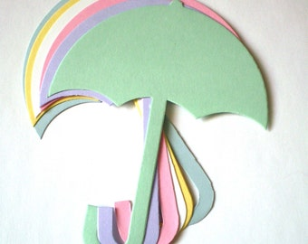 Large Die Cut Paper Umbrellas