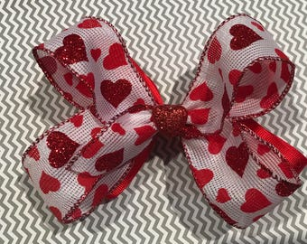 Valentine's Day Stacked Boutique Hair Bow