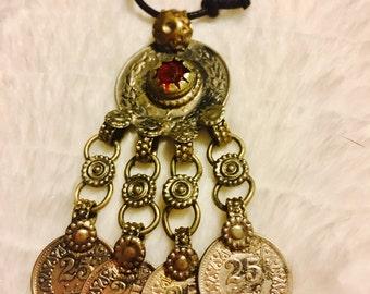 Pakistan kuchi jingle necklace afgan kuchi jingle